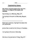 L.1.2.a Capitalize names and dates