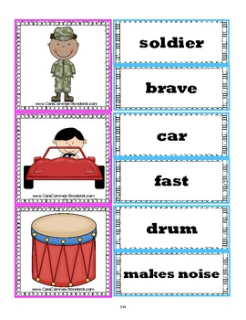 L.1.5 First Grade Common Core Worksheets, Activity, and Poster