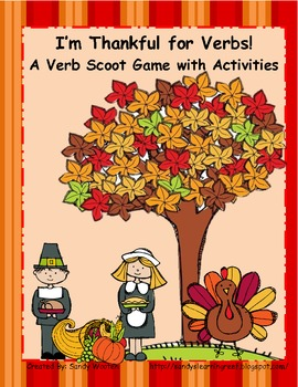 L.2.1 I'm Thankful for Verbs!  (Present, Past, and Irregular Past Tense Verbs)