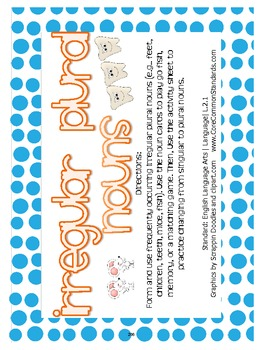 L.2.1 Second Grade Common Core Worksheets, Activity, and Poster