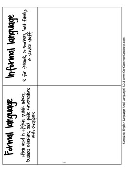 L.2.3 Second Grade Common Core Worksheets, Activity, and Poster