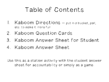 Test Prep & End of The Year Third Grade Language Review Game - Kaboom