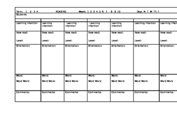 L3 Guided Reading Planner