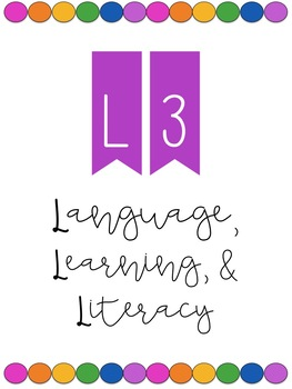 L3 (Language, Learning, Literacy) Program Covers