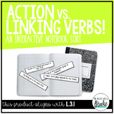 L.3.1 - Action vs. Linking Verbs Interactive Notebook Sort