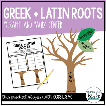 "L.3.4c - Greek & Latin Roots (""graph"" and ""aud"") Literacy"