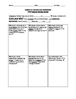 L3.6 Journeys Unit 5 Lesson 24 Vocabulary Homework Supplement