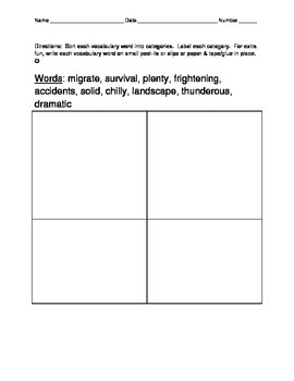 L3.6 Vocabulary Homework Journeys (2014) Supplement Unit 5 Lessons 21-25