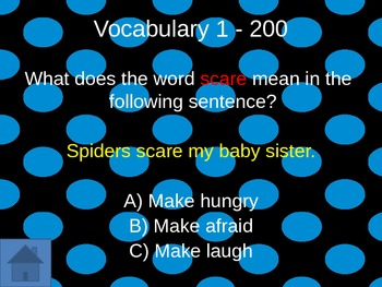 L4 Journey's Diary of a Spider Jeopardy Game