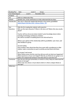 L4 Yr8 Match Report Reading Plan