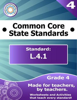 L.4.1 Fourth Grade Common Core Bundle - Worksheet, Activity, Poster, Assessment
