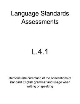 L.4.1 and L.4.2 Language Assessments Bundle (4th Grade)