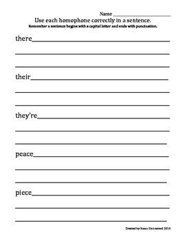 L.4.1.G Homonyms/Homophones 6 Weeks Lessons & Activities (60 words)