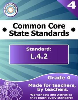 L.4.2 Fourth Grade Common Core Bundle - Worksheet, Activity, Poster, Assessment