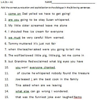 L.4.2b - Punctuating Dialogue