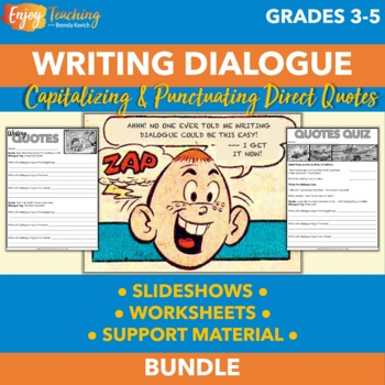 Writing Dialogue with Cartoons - Using Quotation Marks in