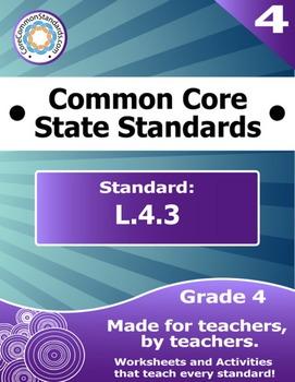 L.4.3 Fourth Grade Common Core Bundle - Worksheet, Activit