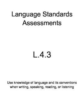 L.4.3 Language Assessment Pack (4th Grade)