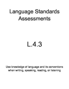 L.4.3 Language Assessment Pack (4th Grade)