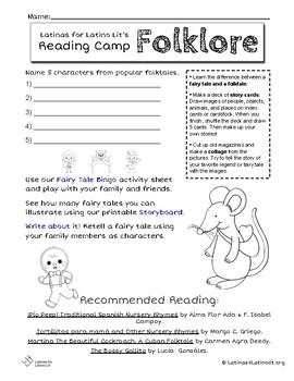 L4LL Summer Reading Program Week 3: Folklore/Folclore