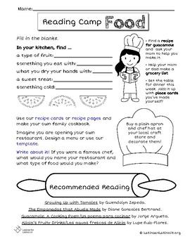 L4LL Summer Reading Program Week 4: Food/Comida