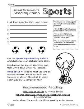 L4LL Summer Reading Program Week 9: Sports/Deportes