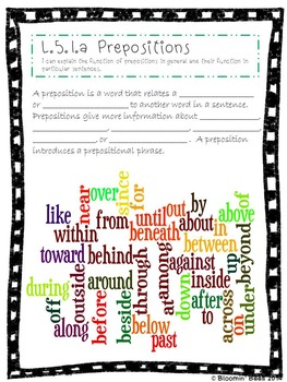 L.5.1 Conjunctions, Prepositions, Interjections, Perfect Verb Tense . . .