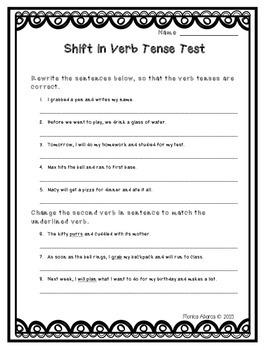 L.5.1.d - Shifts in Verb Tense Test