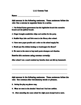 L.5.2 Comma Assessment