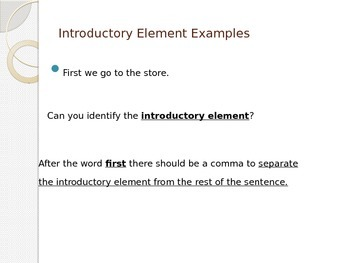 L.5.2 Comma PowerPoint Lesson - 25 Slides On How to Use A Comma Correctly!!