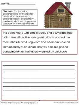 L.5.2 Fifth Grade Common Core Worksheets, Activity, and Poster