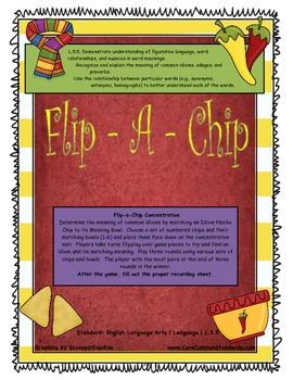 L.5.5 Fifth Grade Common Core Worksheets, Activity, and Poster