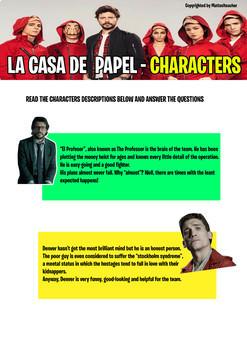 LA CASA DE PAPEL (MONEY HEIST) - Reading Comprehension