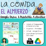 LA COMIDA: ALMUERZO - Spanish Food: Lunch Activity Pack
