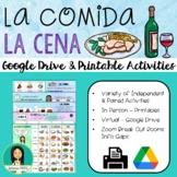 LA COMIDA: CENA - Spanish Food: Dinner Activity Pack