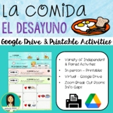 LA COMIDA: DESAYUNO - Spanish Food: Breakfast Activity Pack