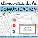 Spanish ELEMENTS of COMMUNICATIONS - Elementos de la comunicacion