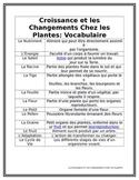 LA CROISSANCE ET LES CHANGEMENTS CHEZ LES PLANTES FULL UNIT PLAN + NO PREP