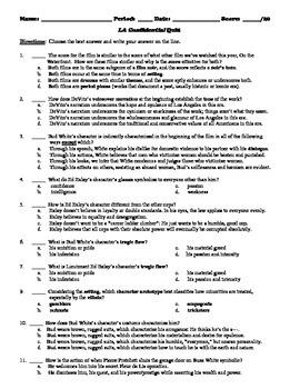LA Confidential Film (1997) 20-Question Multiple Choice Quiz