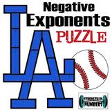 LA Dodgers Cooperative Baseball Puzzle - Negative Exponent Rule