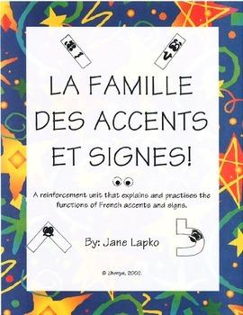 LA FAMILLE DES ACCENTS ET SIGNES - French accents explained