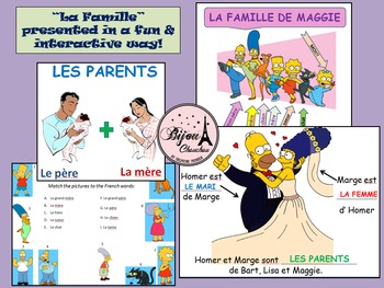 LA FAMILLE - French Lesson on Family and Pets