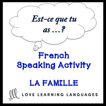 LA FAMILLE French Find Someone Who Activity:  Est-ce que tu as déjà…?