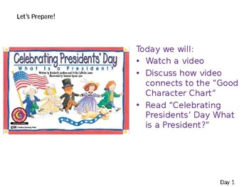 LA Guidebooks-Duck for President- Lesson 5 Day 1 - First Grade