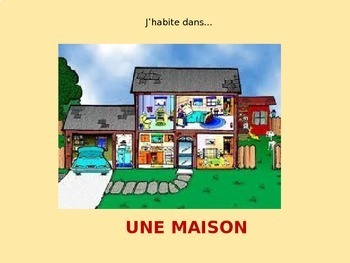LA MAISON: French Lesson on Rooms of the House and Related Vocabulary