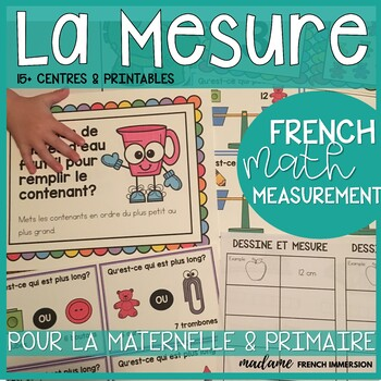 LA MESURE: French Measurement Activity Centres and Printables