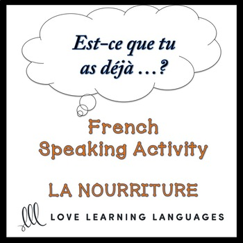 LA NOURRITURE French Find Someone Who Activity:  Est-ce que tu as déjà…?