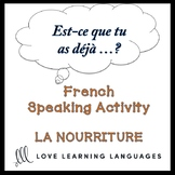 LA NOURRITURE French Speaking Activity:  Est-ce que tu as déjà…?