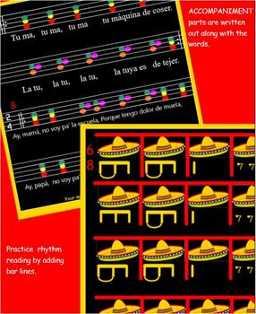 LA RASPA - Mexican Dance Song - SMARTBOARD - 16 pages of music & culture