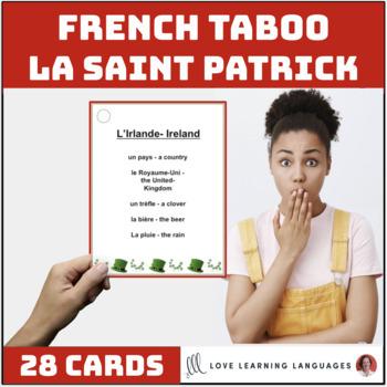 LA SAINT PATRICK French Taboo Game - Jeu de Tabou en Français
